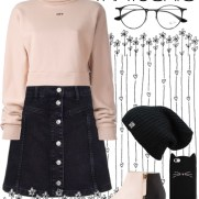 holiday style: cozy chic - black rose