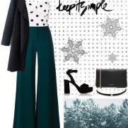 classy teal and polka dots