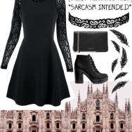 black lace grunge