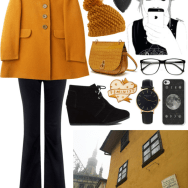 oversized mustard coat