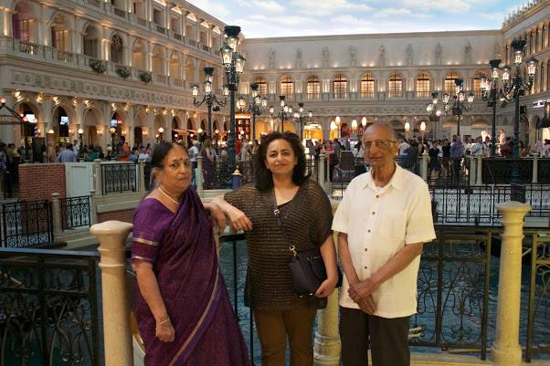 Aruna with parents