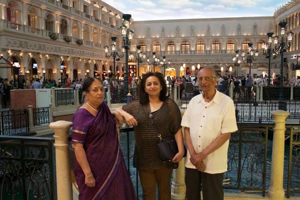 Aruna with parents