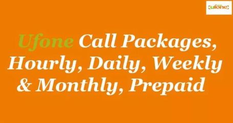 Latest Ufone Prepaid Packages 2019 – Call, SMS and Internet Packages