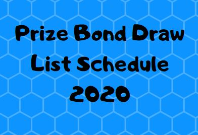 Prize Bond Schedule 2020 – Complete Draw List