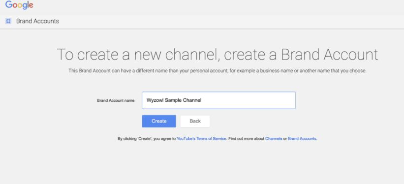how to create  a youtube video channel 4