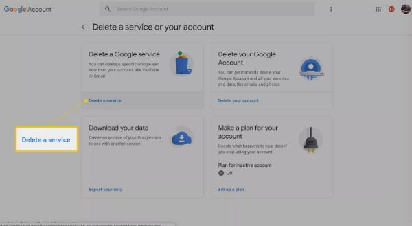 how to remove gmail account