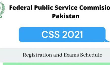 CSS Exams 2021 Registration Starts - Download Application Form