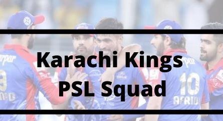Karachi Kings Squad for PSL 2021