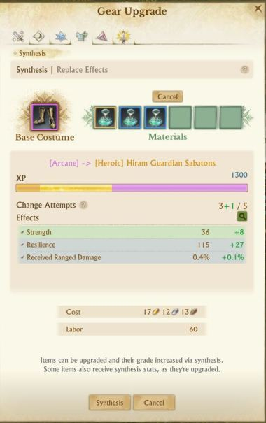 How to Upgrade Hiram Gear - Archeage Unchained - Saarith com