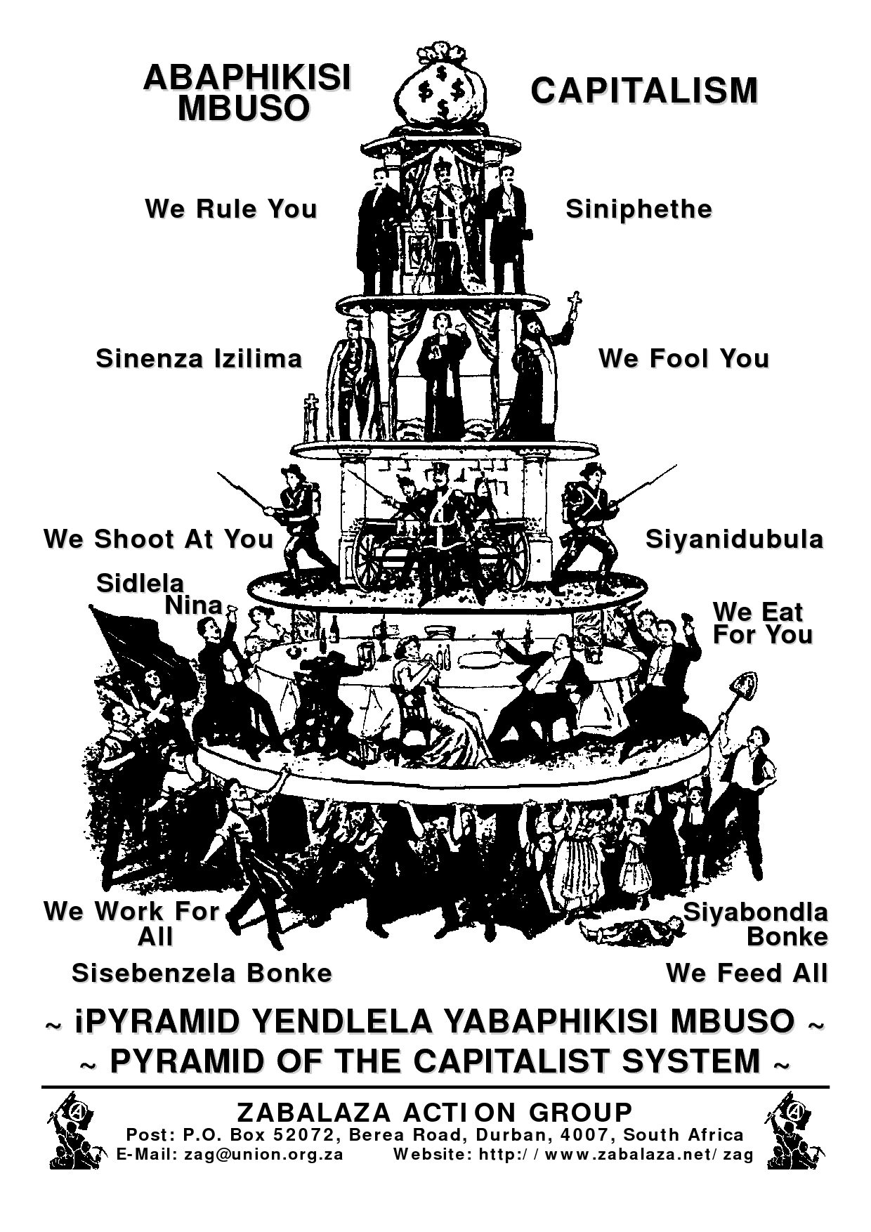 Poster Pyramid Of The Capitalist System Abaphikisi