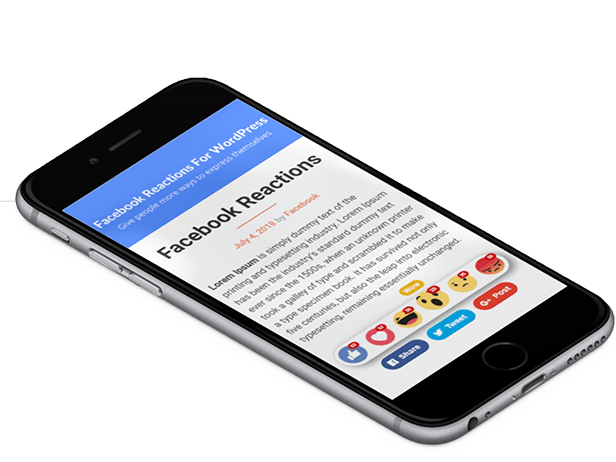 Facebook Reactions For WordPress - 3