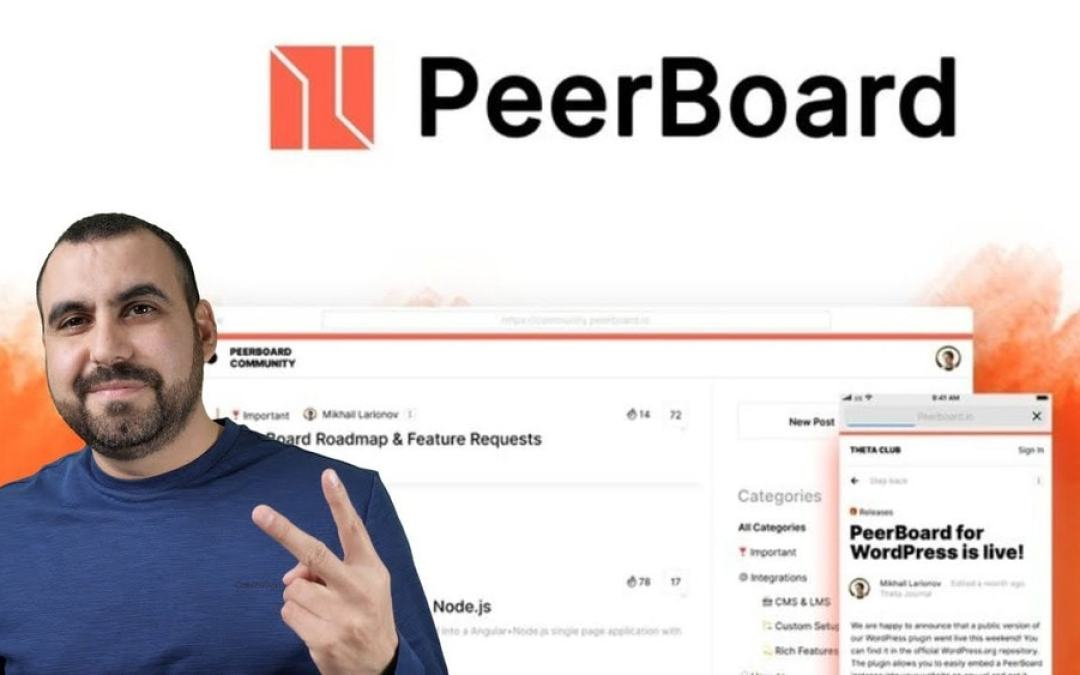 Create a community forum with PeerBoard Lifetime deal