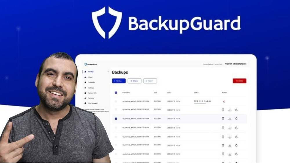 BackupGuard WordPress plugin for Backup and Security