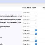 eBayから送られる自動メールを設定変更するには