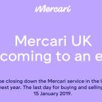 メルカリ 2019年1月にイギリスからサービス撤退!