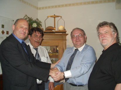 Předsednictvo, Petr Šimáček, Otokar Löbl, Peter Wagner a Dr. Andreas Kalckhoff