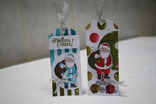 Marque-pages ou étiquettes cadeaux pour Noël