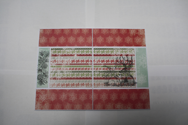 Carte infinie ou mini album version fête de fin d'année