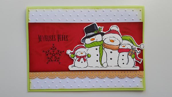 Une famille de bonhommes de neige