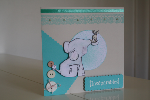 Serie de cartes, theme : Elephants