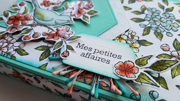 TUTORIEL : Boite «Mes petites affaires» avec la collection «ballade des oiseaux» de Stampin'up