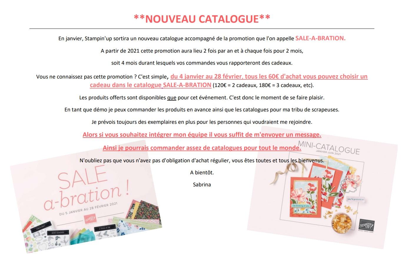Nouveau catalogue Janvier-Juin 2021 de Stampin'up