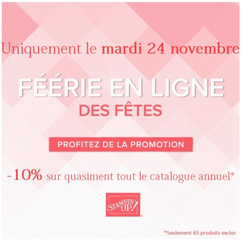 Promotion Stampin'up «Féérie en ligne»