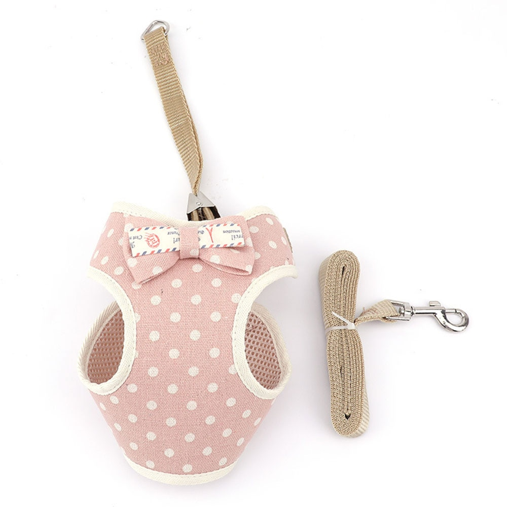 1Pc Cute Small Pet Harness With Leash