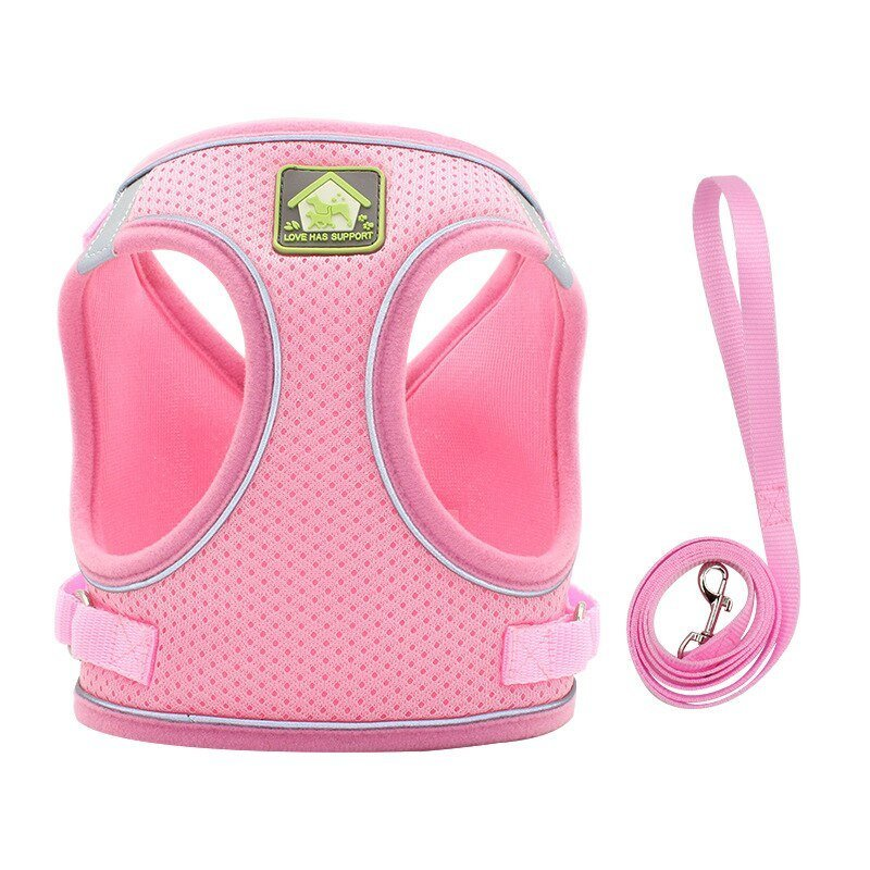 1Pc New Small Pet Harness With Leash