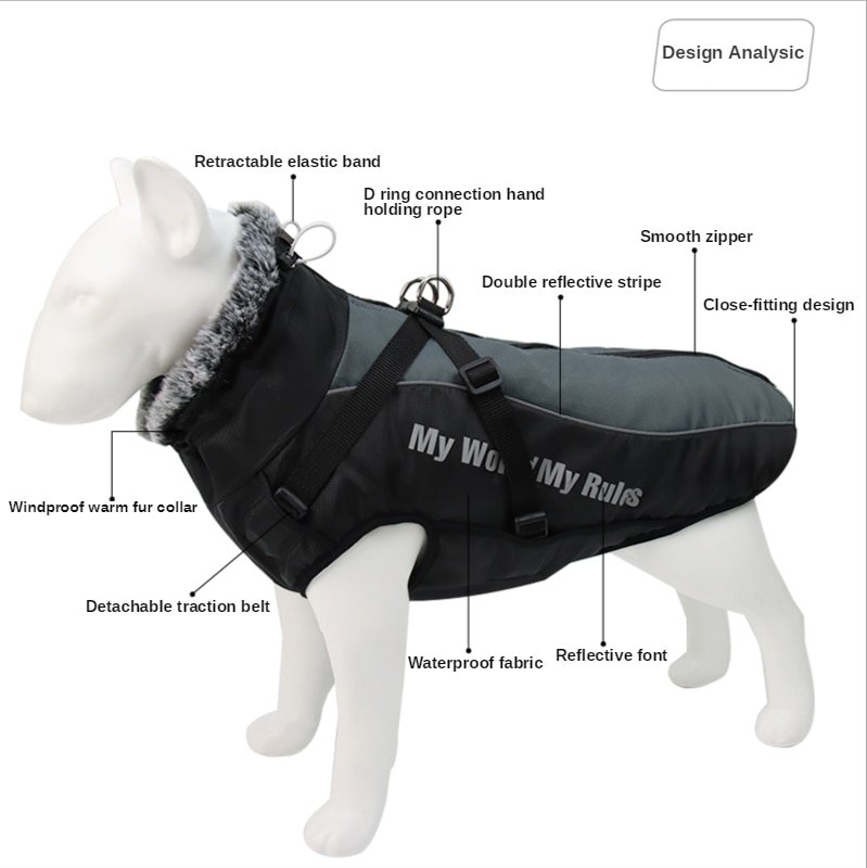 1Pc Comfortable Jacket For Big Dogs