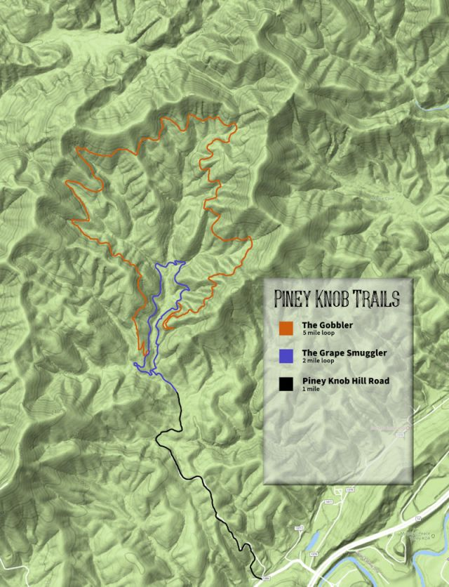 Piney Knob Trail Map