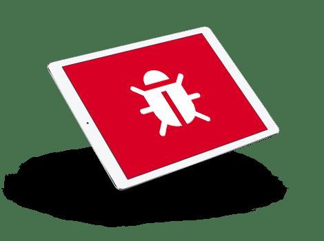 Imagen de un equipo con icono de seguridad web