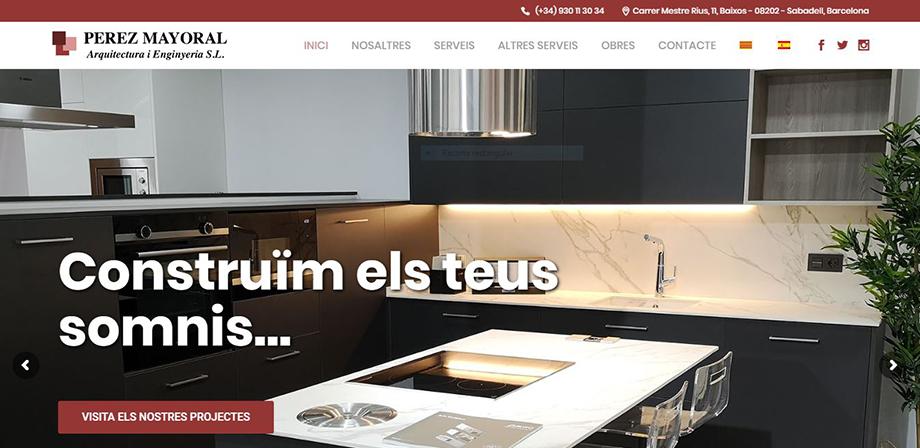 Pantallazo página web Pérez Mayoral