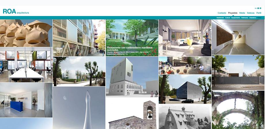 Pantallazo página web ROA Arquitectura