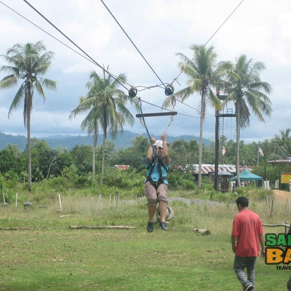 KK Adventure Park's flying fox