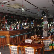 Inviting interior at the Shamrock Irish Bar
