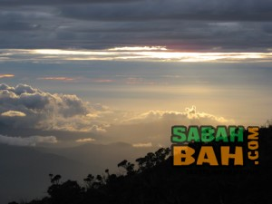 Sabah's amazing sunsets are even more so from Mt. Kinabalu