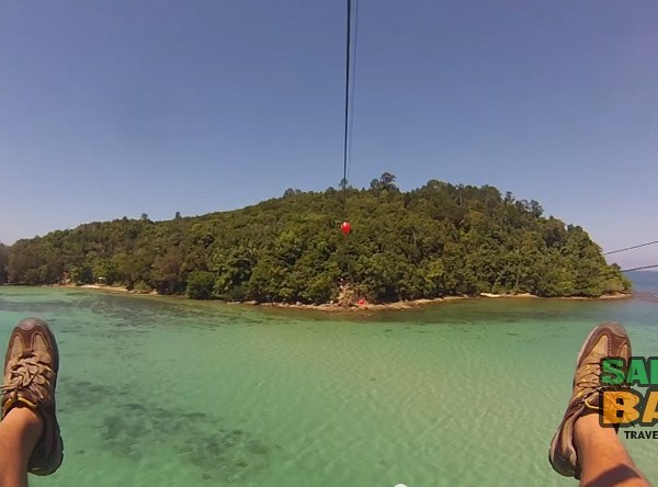 Sabah's Longest Zipline from Gaya to Sapi Islands - Coral Flyer