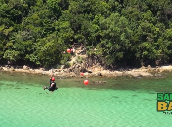 Kota Kinabalu Zipline from Island to Island on Coral Flyer