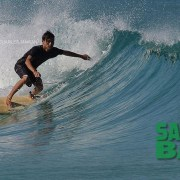 Big waves for awesome surfing in Sabah, Borneo