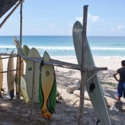 Surfboard rental for surfing at the Tip of Borneo, Sabah, Malaysia