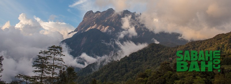 View of Mt. Kinabalu from near the Ayana Holiday Resort in Kundasang, Sabah, Borneo