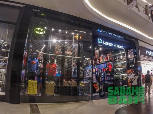 DC Comics Super Heroes Retail Outlet in Imago The Mall at KK Times Square, Kota Kinabalu, Sabah