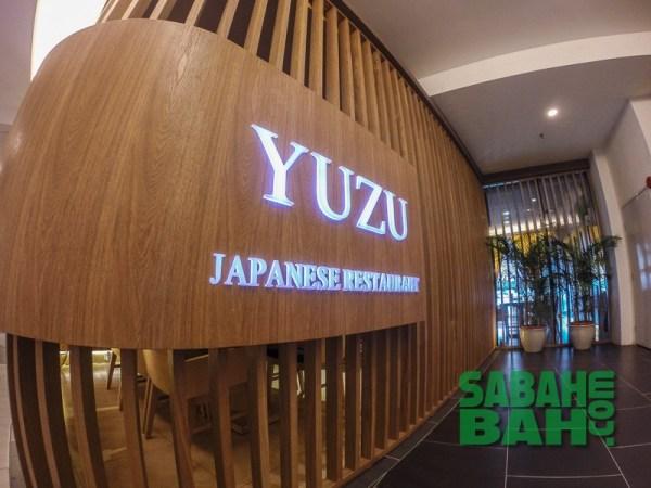 Yuzu Japanese Sushi Restaurant in Oceanus Waterfront Mall in Kota Kinabalu, Sabah
