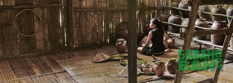 KadazanDusun traditional setting recreated at Mari Mari Cultural VIllage