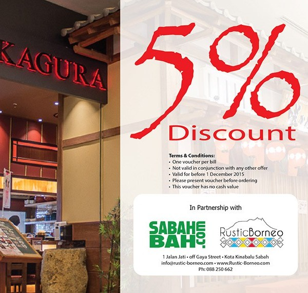 Sakagura Japanese Restaurant - Discount Coupon - Oceanus Waterfront Mall, Kota Kinabalu