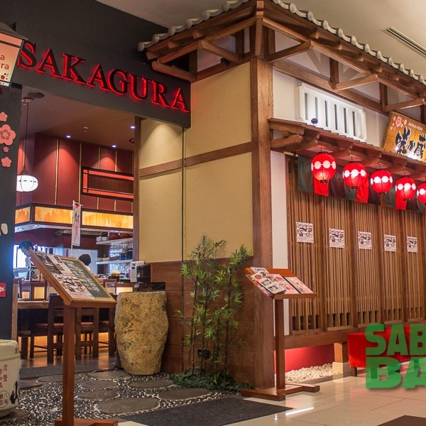 As seen in Japan: shopfront of Sakagur Japanese Restaurant on the Ground floor of Oceanus Waterfront Mall