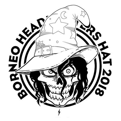 Borneo Headhunters Hat 2018, Ultimate Frisbee Tournament, Kota Kinabalu, Sabah - Temp Standin Logo