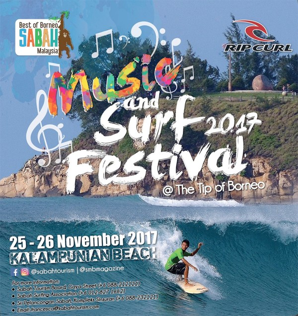 Musci & Surf Festival at the Tip of Borneo, Kudat, Sabah, Malaysia