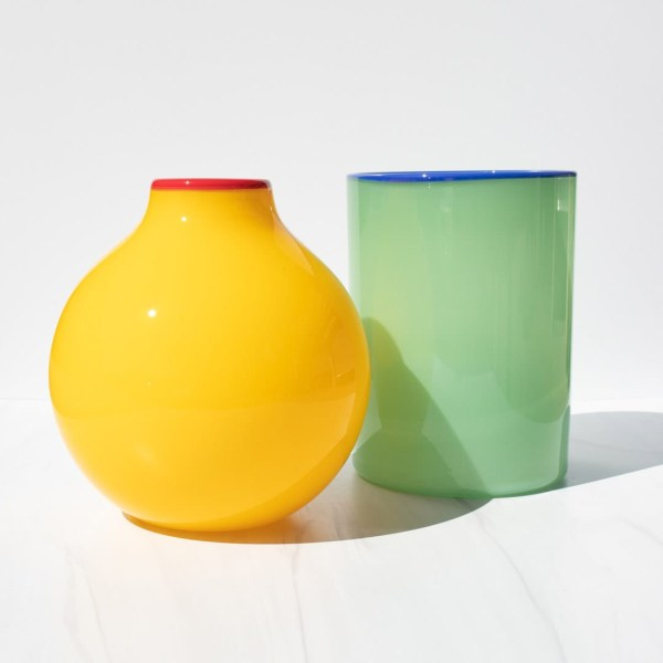 Haus Short cylinder and Oval vase